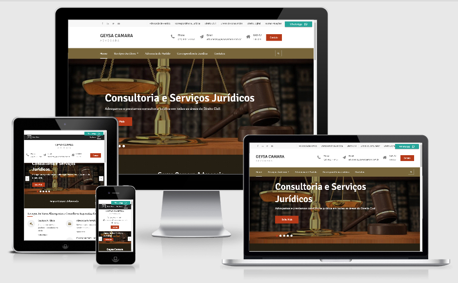 Site para advogados